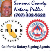Sergio Musetti, Sonoma County Spanish Mobile Notary Public Signing Agent, California.